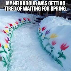 Funny Pictures ... Spring And Snow Quotes