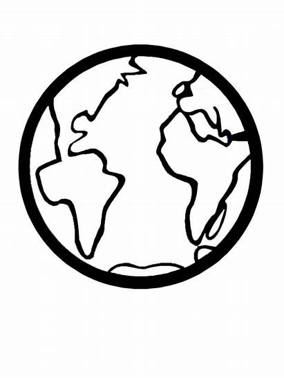 Earth Coloring Printable Pages Globe Template Clipart