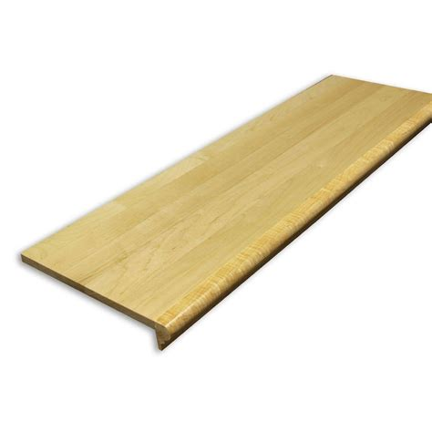 home depot wood stairs stairtek 0 625 in x 11 5 in x 36 in prefinished natural maple retread xbtma113600050 the