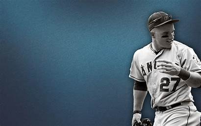 Trout Mike Wallpapers Desktop Angels Baseball Cool