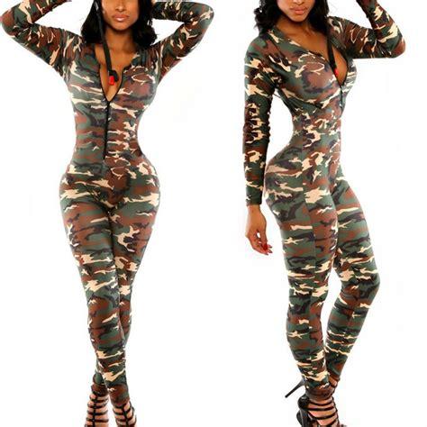 camouflage jumpsuit bodycon jumpsuit bodysuit rompers