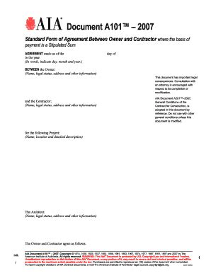 form aia document  fill  printable