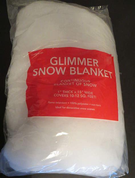 glimmer white snow blanket glitter flame retardent