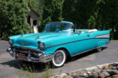turquoise  chevy   clear cut classic