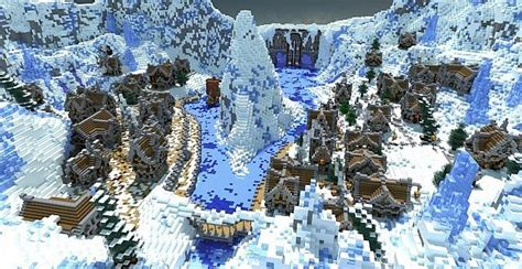 winters secret village minecraft building