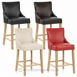 Chaise De Bar Bois : chaise de bar faux cuir bois magna ~ Teatrodelosmanantiales.com Idées de Décoration