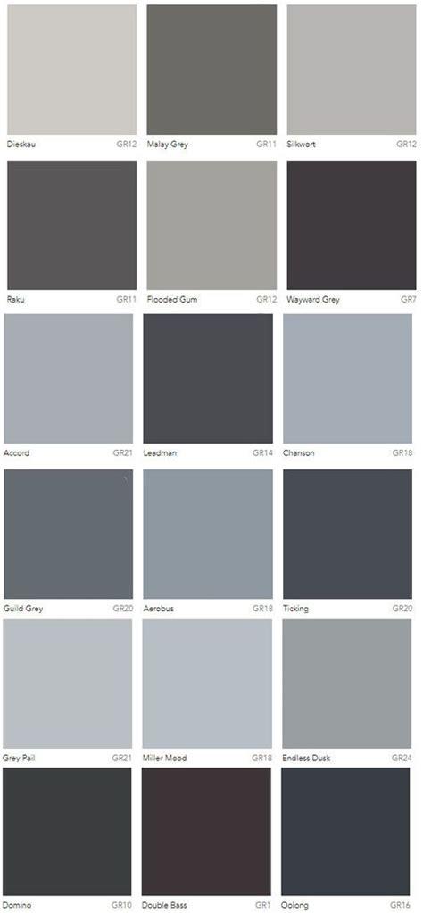grey colour charts dulux australia interior design