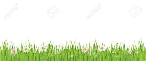 Grass With Flowers Border Clipart Collection