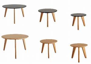 Table Basse Gigogne Scandinave : table gigogne design scandi en ch ne chez ksl living ~ Voncanada.com Idées de Décoration