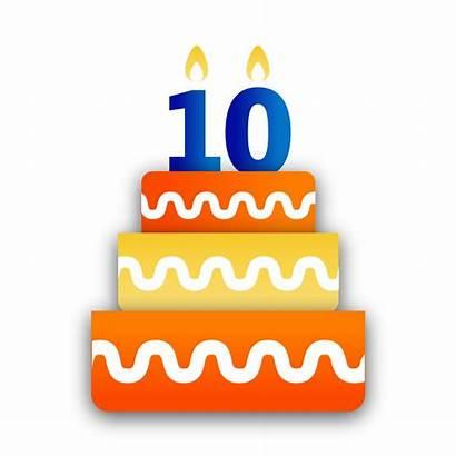 10th Birthday Clipart Cake Bbm Happy Sticker