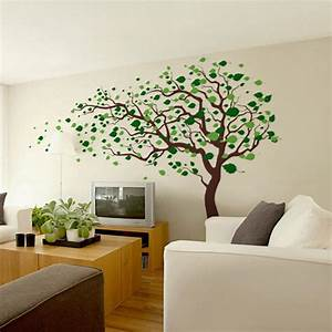 pop decors 123 in x 83 in blowing in the wind tree With best brand of paint for kitchen cabinets with wall stickers tree