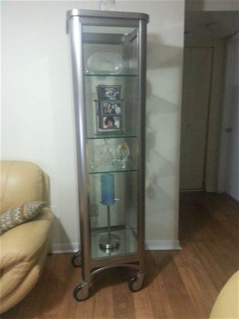 Ethan Allen Radius Curio Cabinet by Ethan Allen Stainless Steel Curio Cabinet