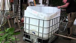 pool bau aus einem 1000 l ibc tank container youtube With whirlpool garten mit infrarot balkon heizung