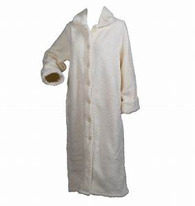 slenderella ladies soft waffle fleece dressing gown button With robe de chambre polaire junior