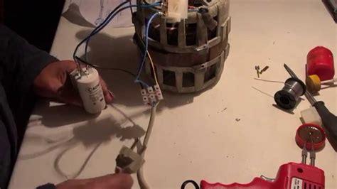 motor de lavadora como conectar el condensador