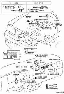 2001 Toyota Tacoma Computer  Engine Control  Module