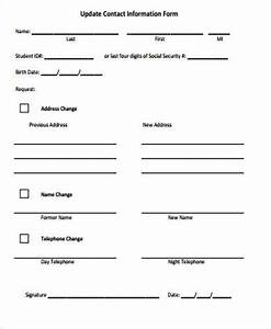 Update contact information template pictures to pin on for Update contact information form template