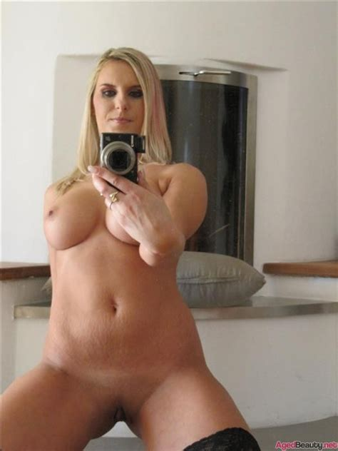 Sexy Blonde Cougar In Stockings Aged Beauty