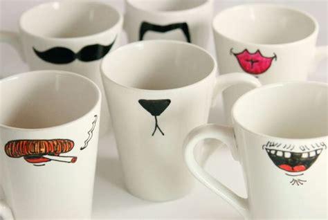 diy mug tasse idees peinture sur verre  porcelaine