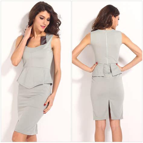 modele de robe de bureau 2015 social office dress suits coverall tunic vestidos s flouncing knee length office