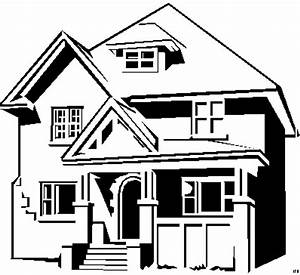 Haus Strichzeichnung Einfach : haus einfach ausmalbild malvorlage objekte ~ Watch28wear.com Haus und Dekorationen