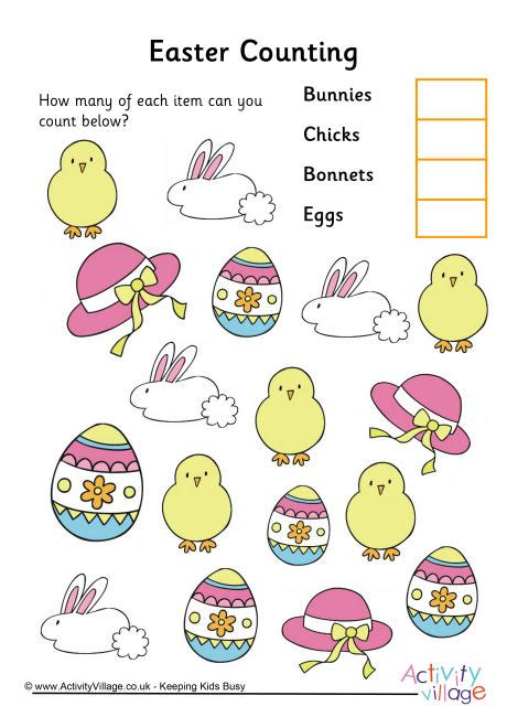 Easter Counting Worksheet 3