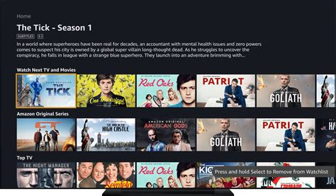 amazon prime video  apple tv launches  tvos app store
