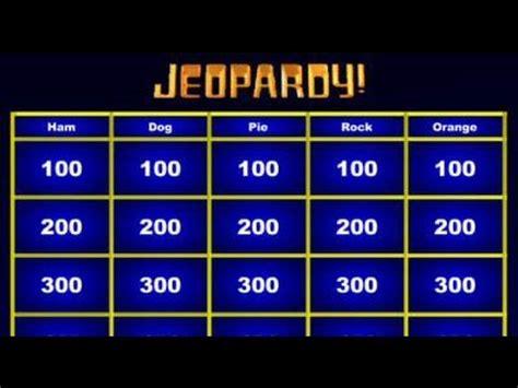 jeopardy powerpoint template  jeopardy game powerpoint
