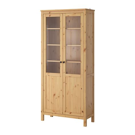 vitrine cuisine ikea hemnes cabinet with panel glass door light brown 90x197 cm
