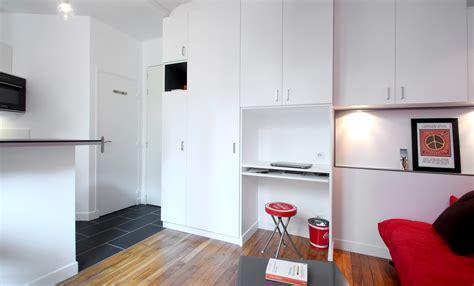 bureau dressing optimisation studio 17 m2 buttes chaumont agence avous