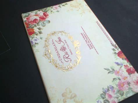 model undangan pernikahan semi hardcover elegan  card
