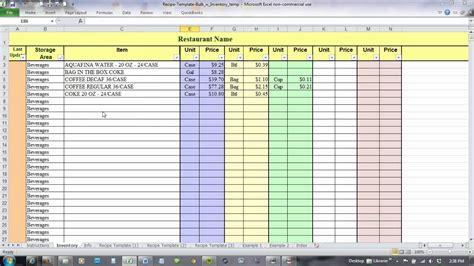food cost spreadsheet on spreadsheet templates rl