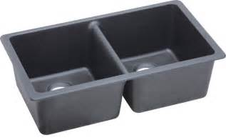 elkay gourmet e granite undermount bowl sink dusk gray elgu3322gy0 contemporary