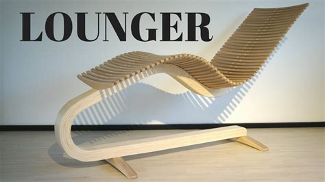 wooden lounger chair youtube