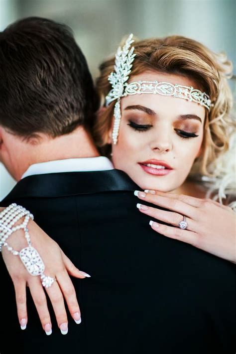 Great Gatsby Style Wedding Hand Chain   Cassandra Lynne
