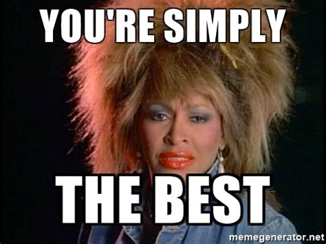 Your The Best Meme - you re simply the best whats love tina turner meme generator