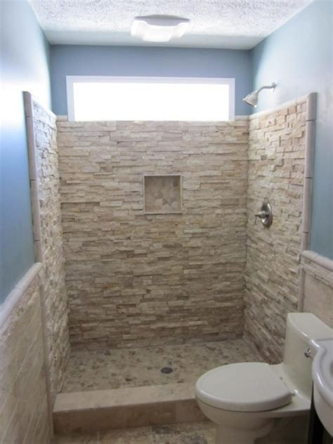 stone shower walls  instant trick  transform  flat