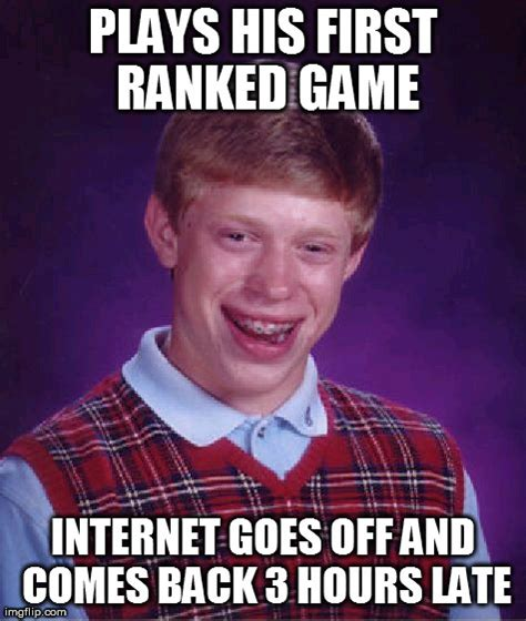 Flipping Off Meme - bad luck brian meme imgflip
