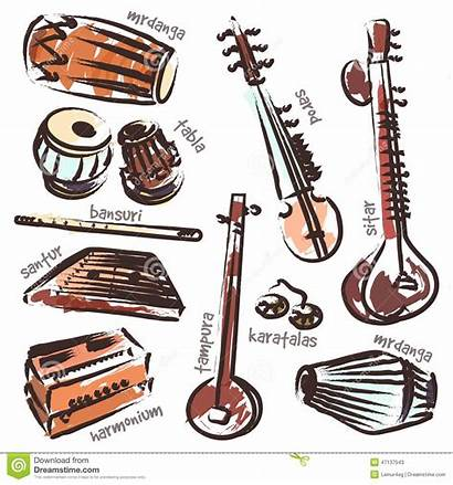Instruments Indian Vector Clipart Traditional Isolated Clipground