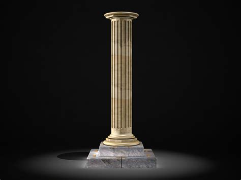 marble column table l classic marble column 3d model max cgtrader com