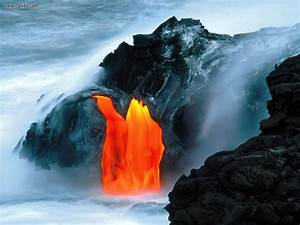 Nature: Lava Flow From Kilauea Volcano Hawaii, picture nr ...