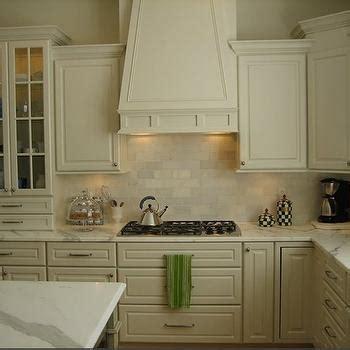 polished nickel hardware cream kitchen cabinets design ideas