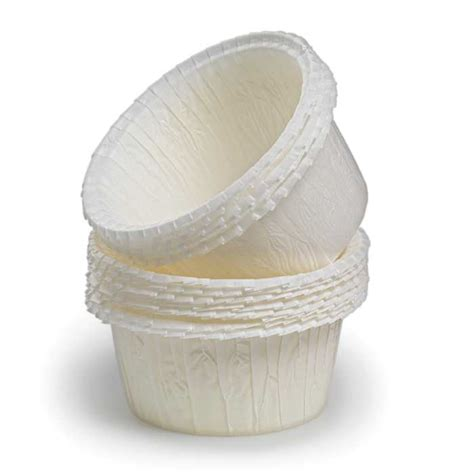flat rimmed white baking cups set