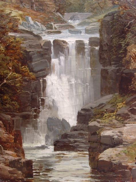 Antiques Atlas - 19th Landscape Waterfall Oil Painting ...