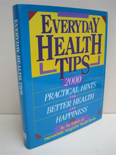 Everyday Health Tips by Prevention Magazine Health Book ...