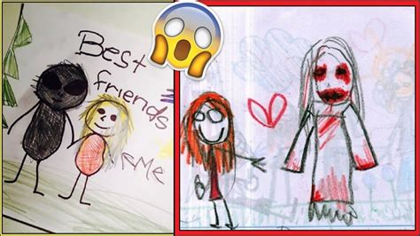 creepy childrens drawings   terrify  youtube