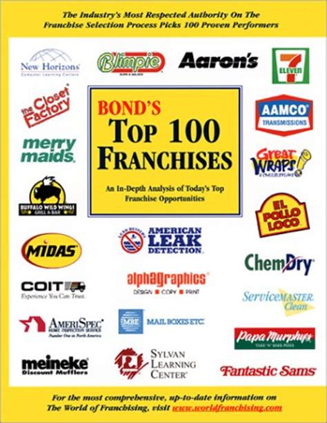 bond s top 100 franchises 2004 an in depth analysis of