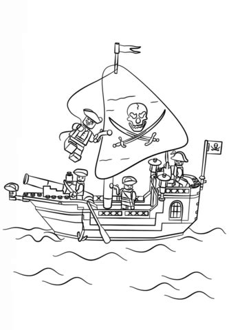 coloriage navire pirate lego coloriages  imprimer