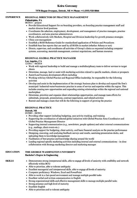 Practice Resume by Regional Practice Resume Sles Velvet