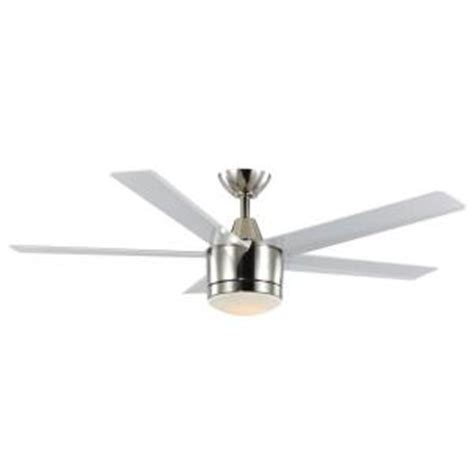merwry 52 in led indoor white ceiling fan home decorators collection merwry 52 in brushed nickel